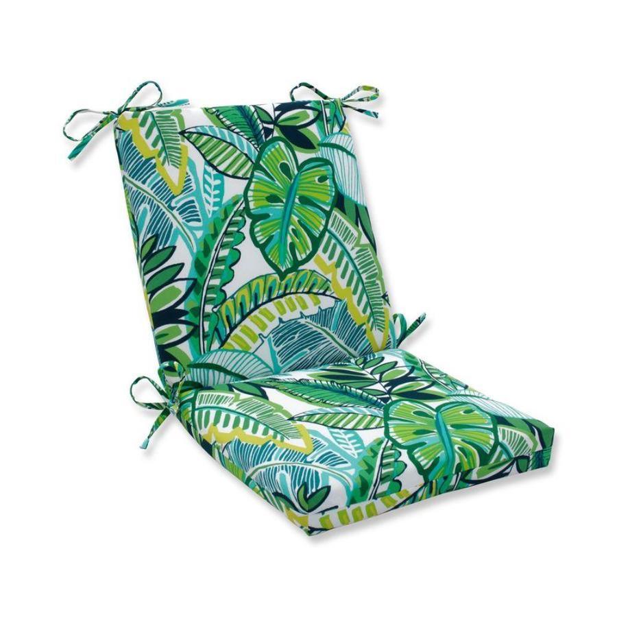 pillow perfect aruba jungle green blue patio chair cushion