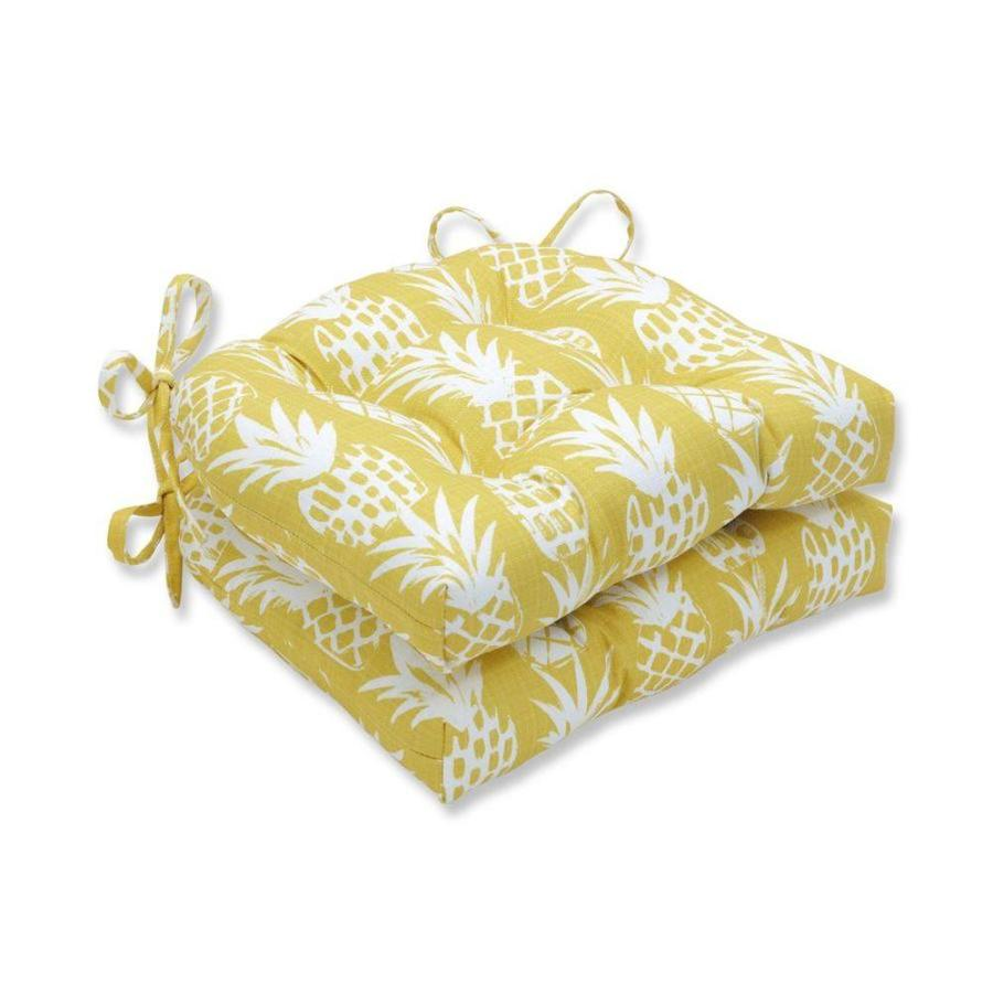 pillow perfect pineapple pineapple 2 piece yellow patio chair cushion