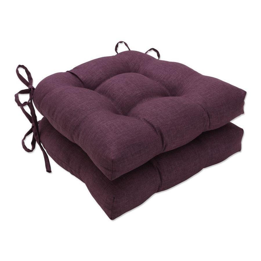 piece purple patio chair cushion