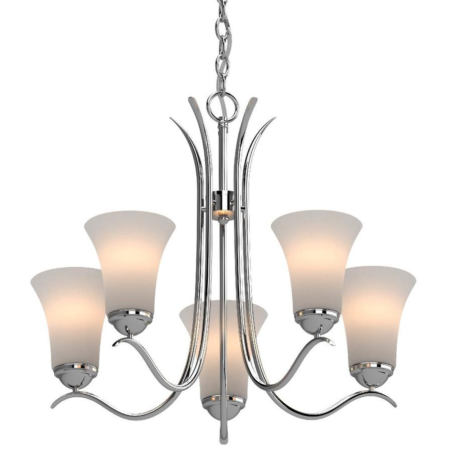 volume lighting alesia 5 light polished nickel traditional chandelier in the chandeliers department at lowes com