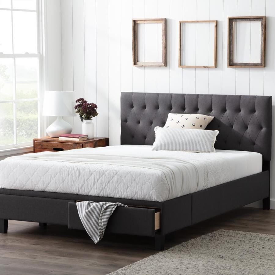 brookside anna charcoal california king platform bed with storage