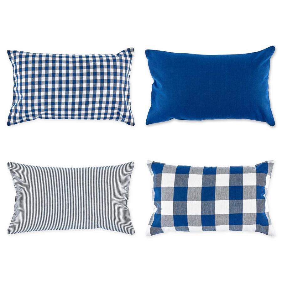 dii 4 pack navy and off white standard cotton pillow case