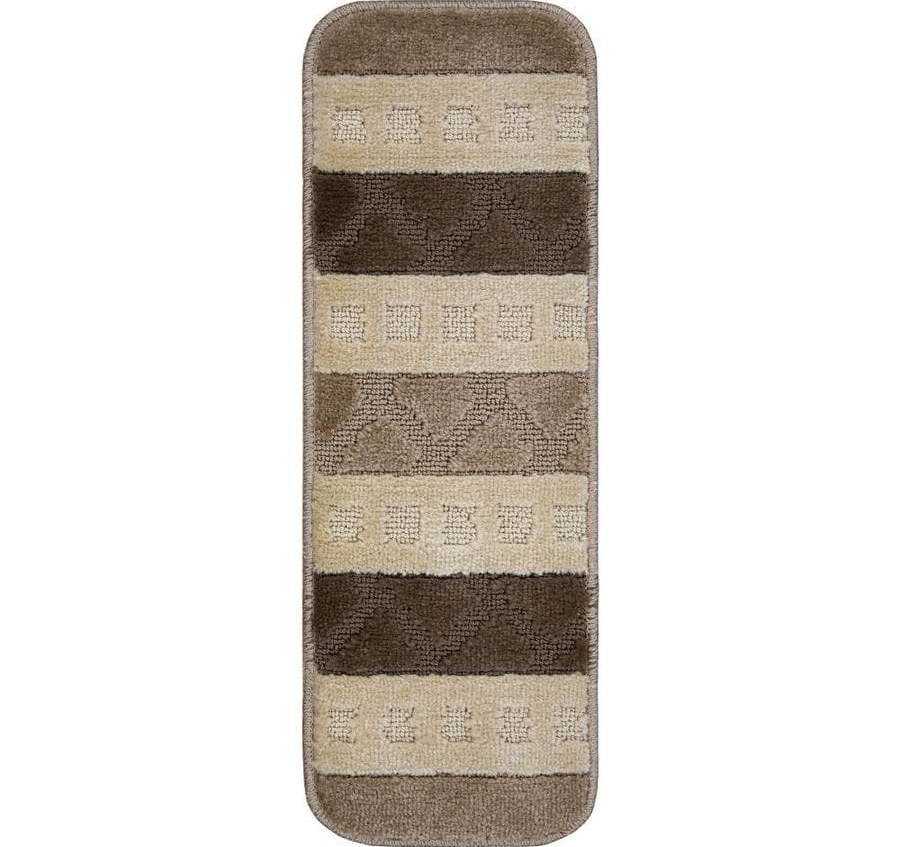 Ottomanson Softy Stair Multiple Colors Indoor Area Rug In The Rugs | Ottomanson Safety Stair Treads | Wood | Dark Beige | Beige | Anti Slip | Slip Rubber Stair