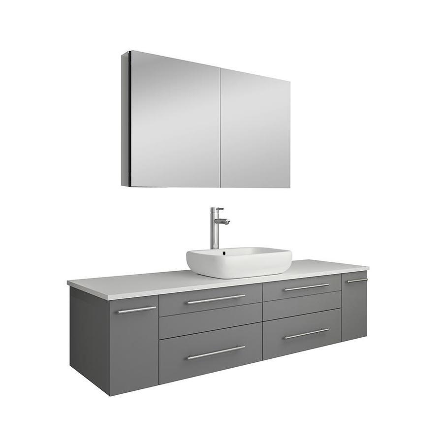 fresca stella 60 in gray single sink