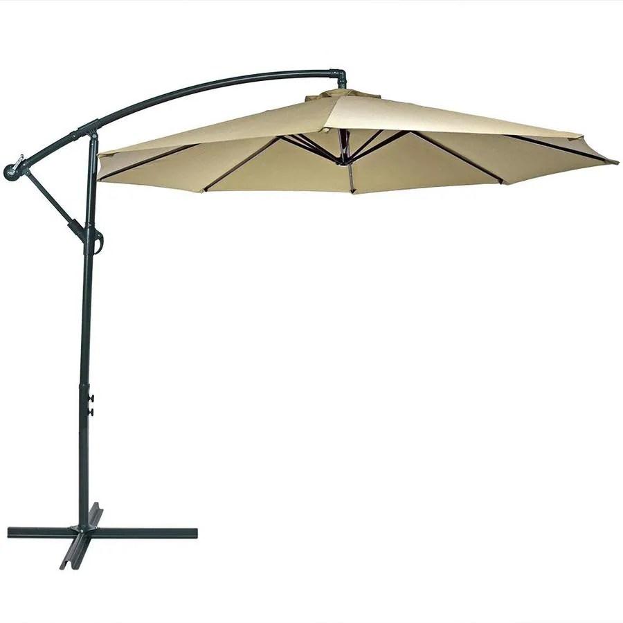 sunnydaze decor 10 5 ft beige crank offset patio umbrella