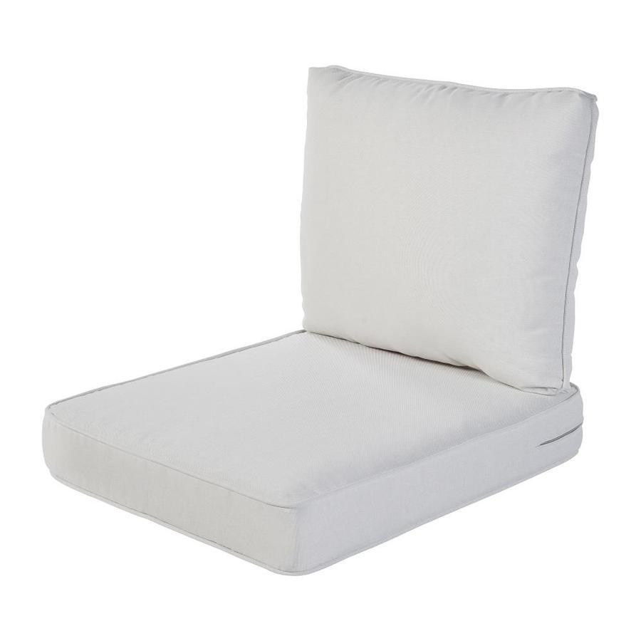 haven way 2 piece linen deep seat patio chair cushion