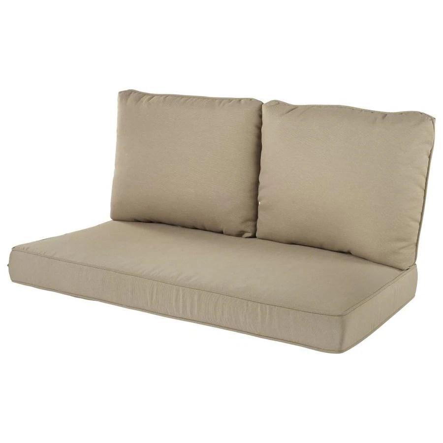 3 piece tan patio loveseat cushion