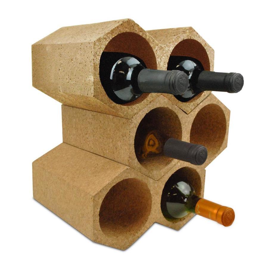 dii 3 bottle cork composite wine rack