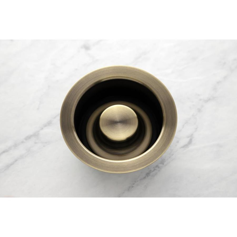 kingston brass 663370855214 4 5 in antique brass brass garbage disposal sink flange