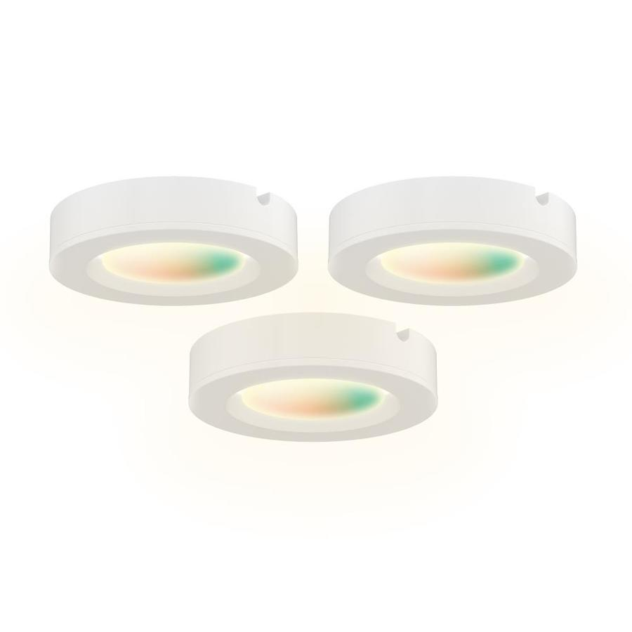 dals lighting 3 pack 36 in hardwired plug in smart puck under cabinet lights with remote
