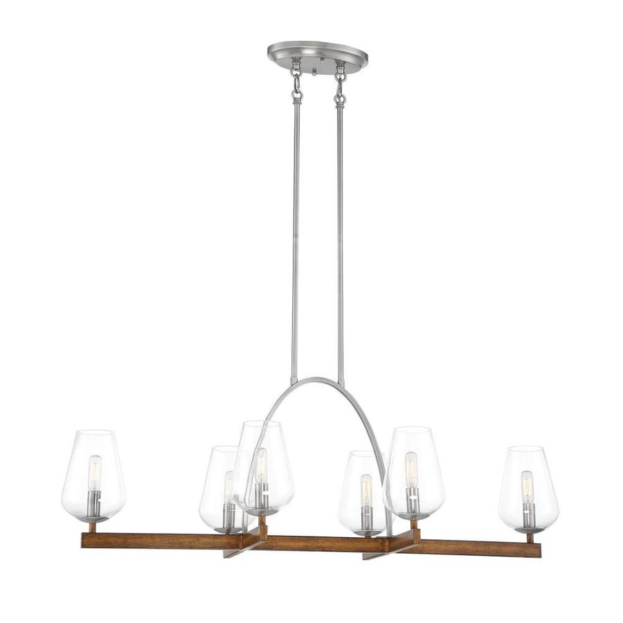 minka lavery birnamwood koa wood with pewter transitional clear glass linear kitchen island light
