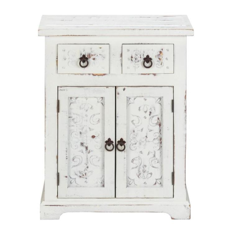 Home Styles Seaside Lodge Collection White Asian Hardpantry In The Dining Kitchen Storage Department At Lowes Com