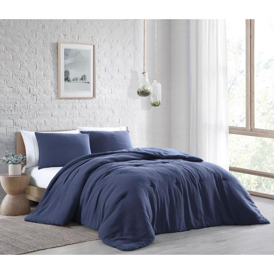 geneva home fashion annika 2 piece navy twin comforter set in the bedding sets department at lowes com