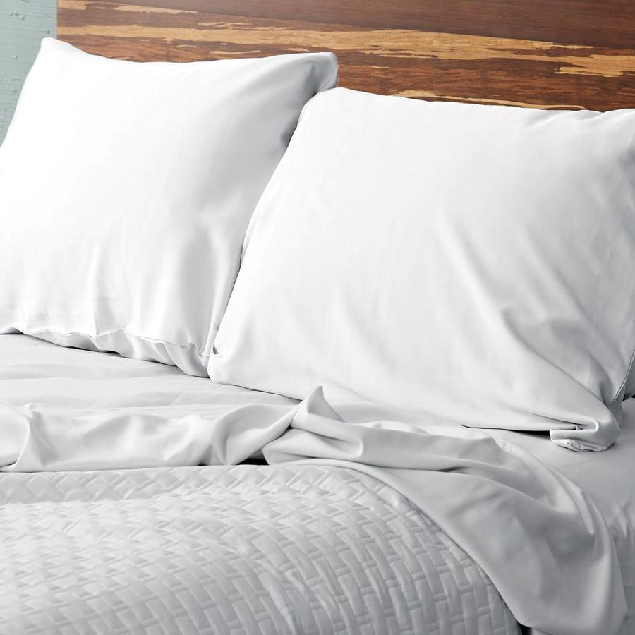 bedvoyage white king rayon from bamboo pillow case lowes com