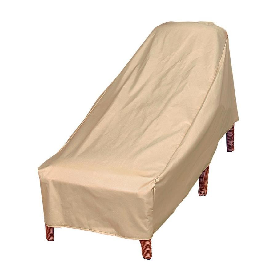 modern leisure basics beige polyester patio furniture cover