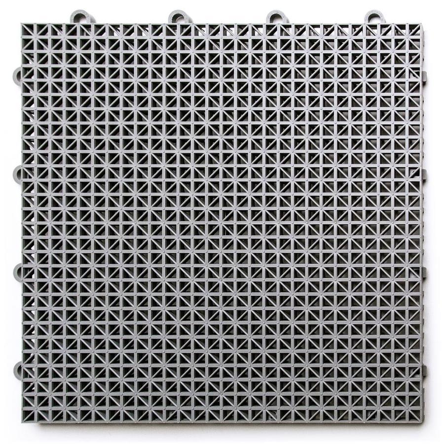 snaplock patio pack 40 pack 0 75 in x 12 in x 12 in gray polypropylene plastic tile multipurpose flooring lowes com