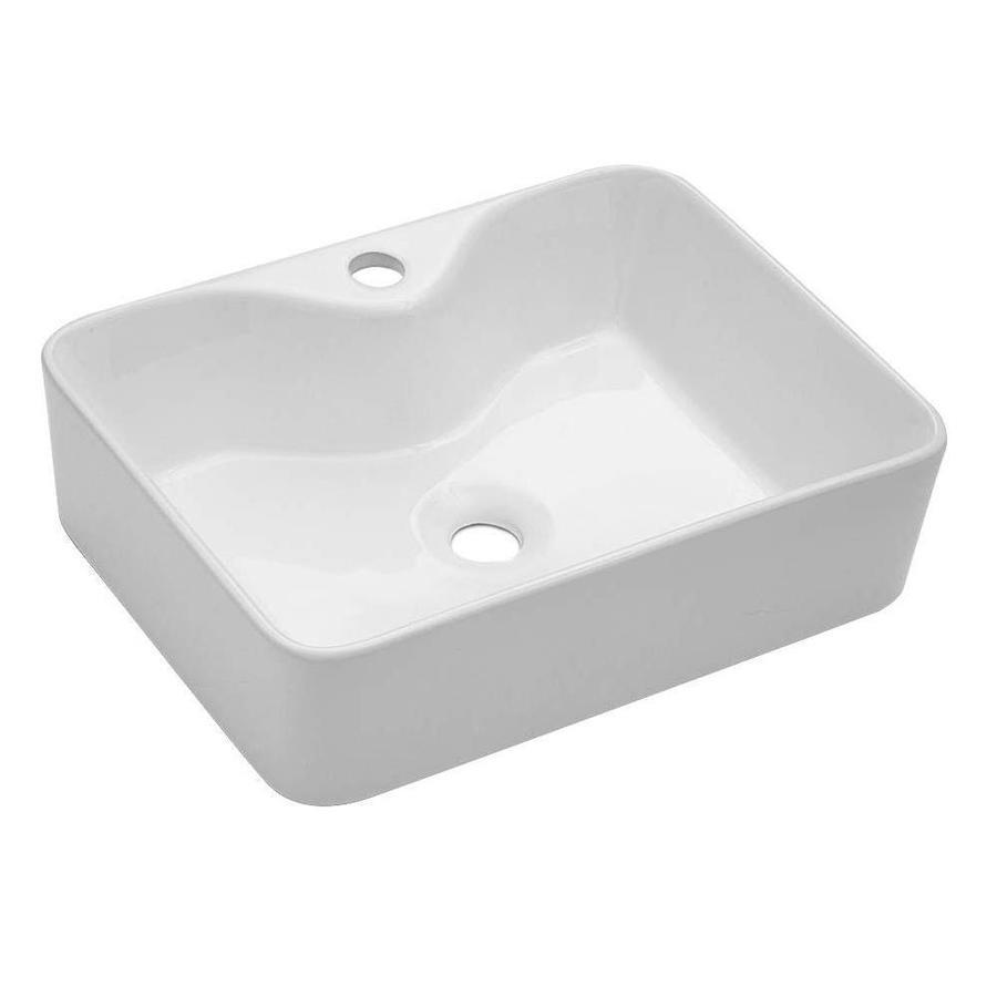 lordear porcelain vanity sink white ceramic vessel rectangular bathroom sink 19 in x 15 in