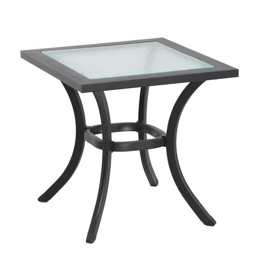 garden treasures vinehaven square outdoor end table 20 in w x 20 in l