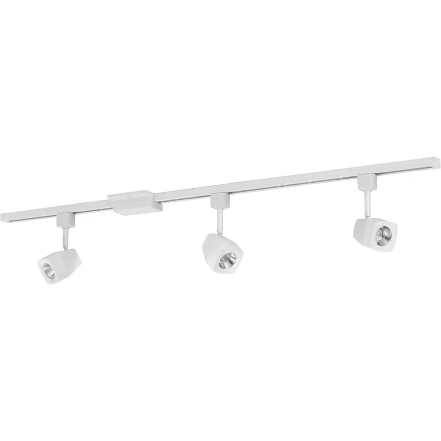 lithonia lighting ltiksq led series track kit 3 light 44 in matte white dimmable led linear track lighting kit