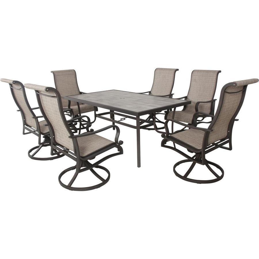 hanover venice 7 piece frame patio set