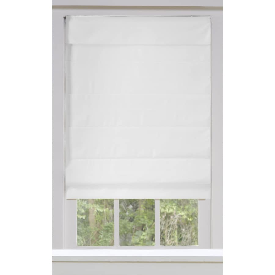 allen roth 50 in x 72 in snow blackout cordless roman shade