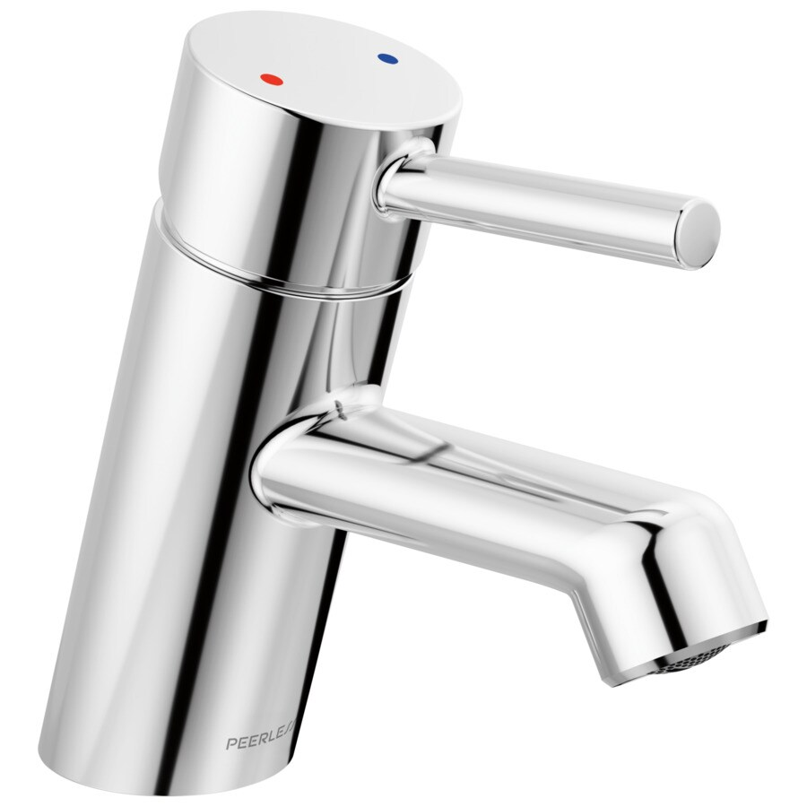 peerless precept chrome 1 handle single hole bathroom sink faucet with drain and deck plate