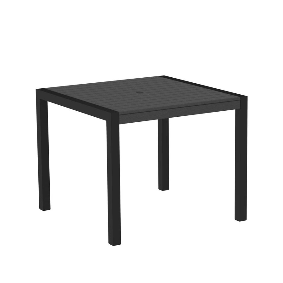 slate grey square patio dining table