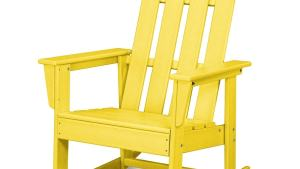 Shop POLYWOOD Long Island Lemon Plastic Rocking Chair At