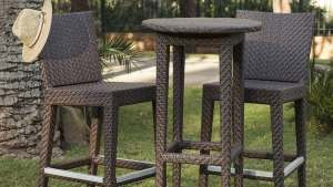 Shop Hospitality Rattan Soho 3 Piece Wicker Bar Patio