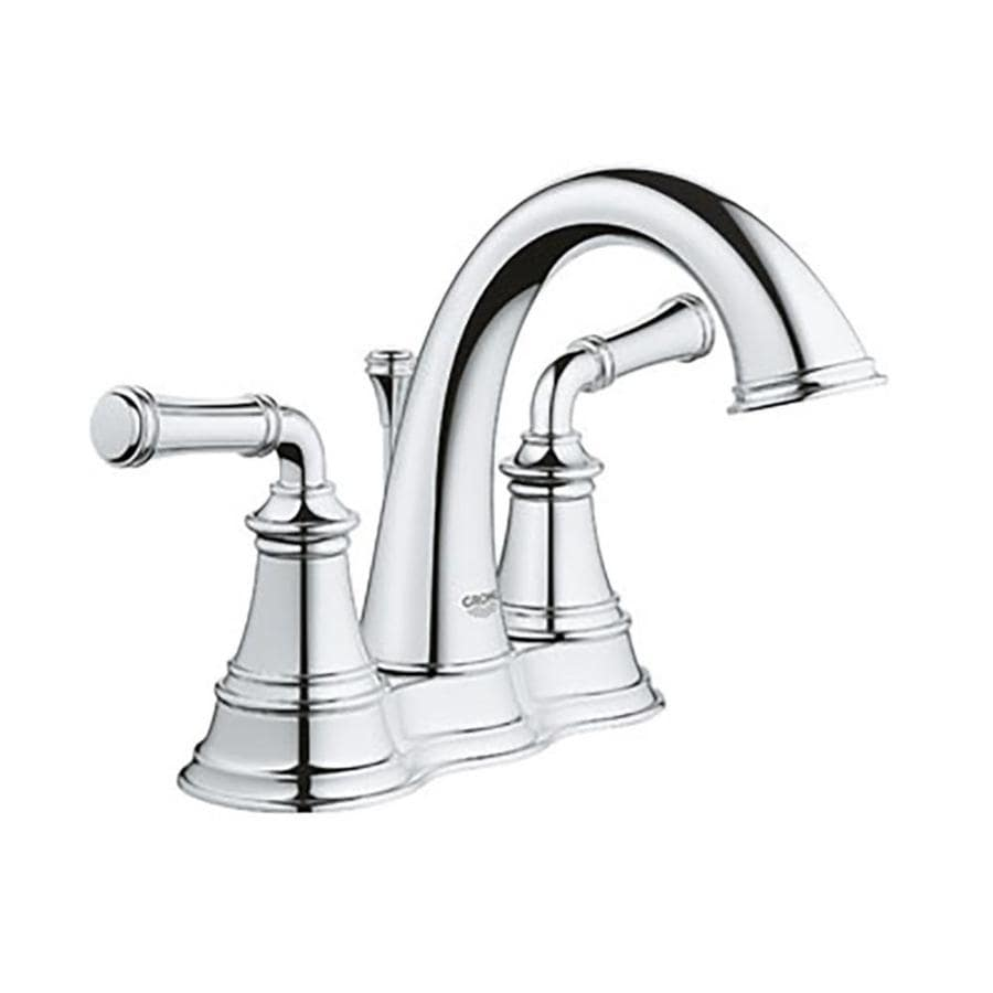 grohe gloucester chrome 2 handle 4 in centerset watersense bathroom sink faucet with drain lowes com