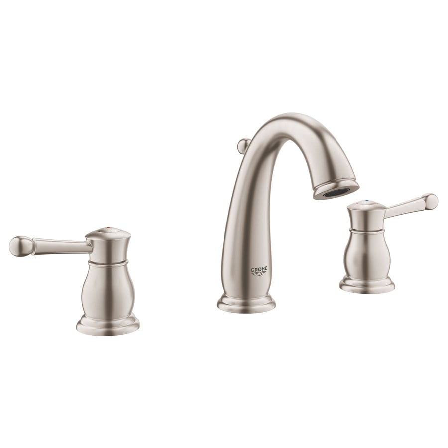 shop grohe wexford brushed nickel 2-handle widespread watersense