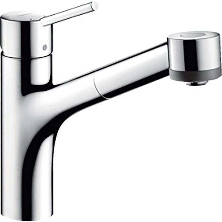 Shop Hansgrohe Kitchen Chrome Handle Pull Out Faucet