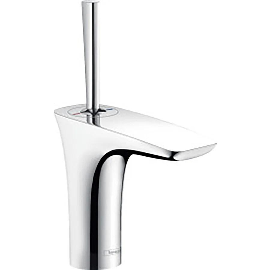 hansgrohe puravida chrome 1 handle single hole bathroom sink faucet with drain