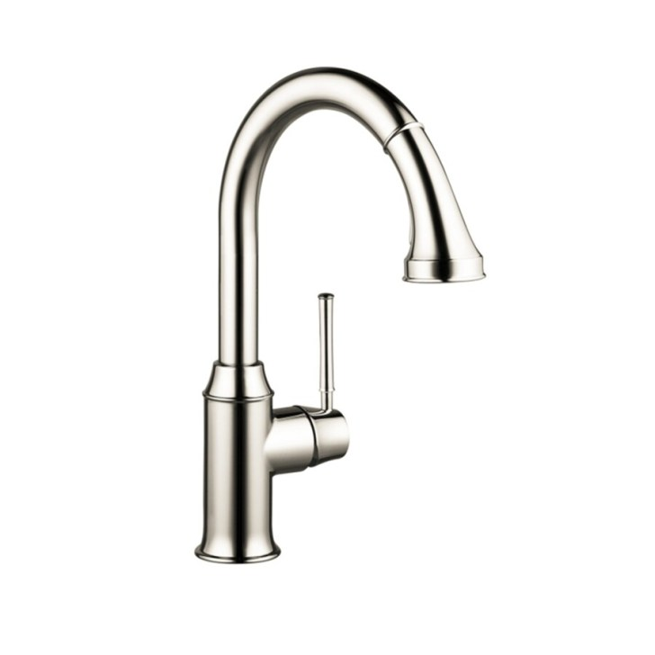 Shop Hansgrohe Talis Polished Nickel Handle High Arc Kitchen Faucet