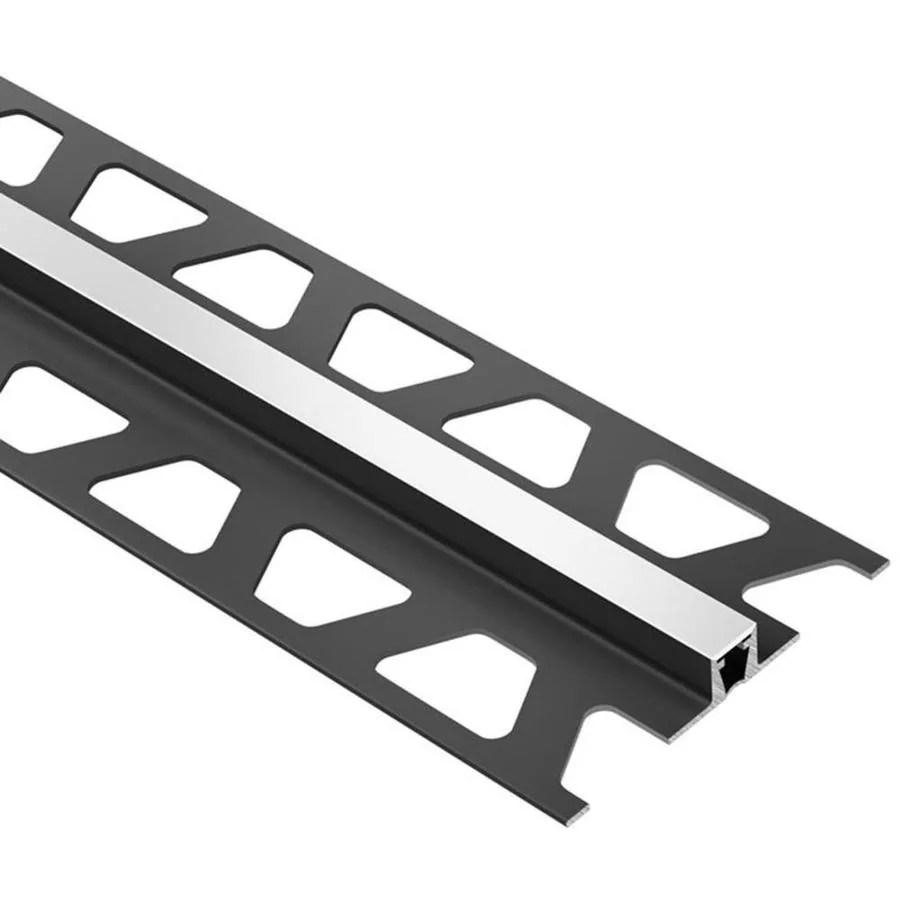 schluter systems dilex bwb 0 25 in w x 98 5 in l bright white pvc tile edge trim