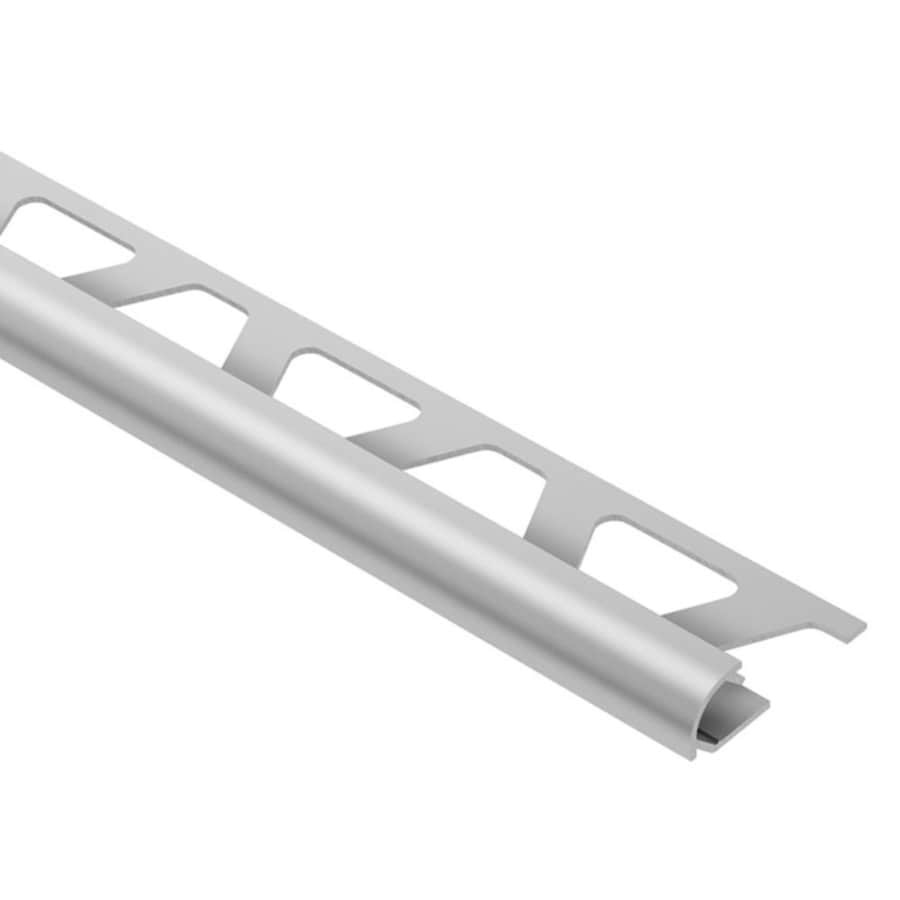schluter systems rondec 0 375 in w x 98 5 in l satin anodized aluminum bullnose tile edge trim