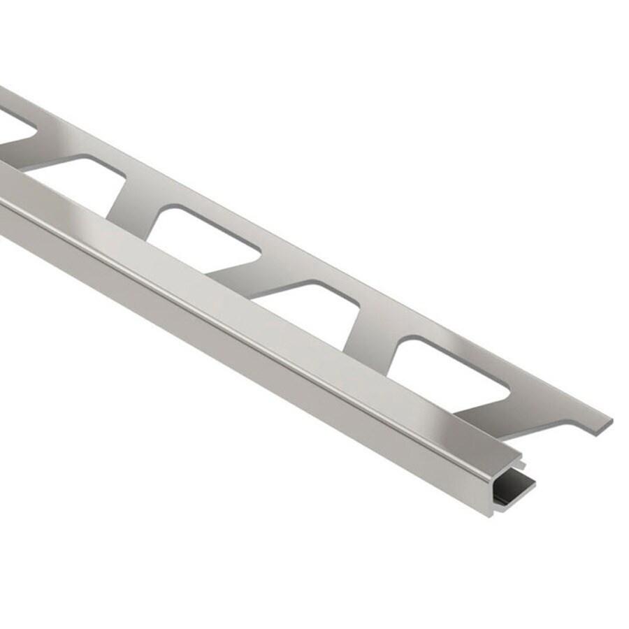 schluter systems quadec 0 375 in w x 98 5 in l satin nickel anodized aluminum square edge tile edge trim