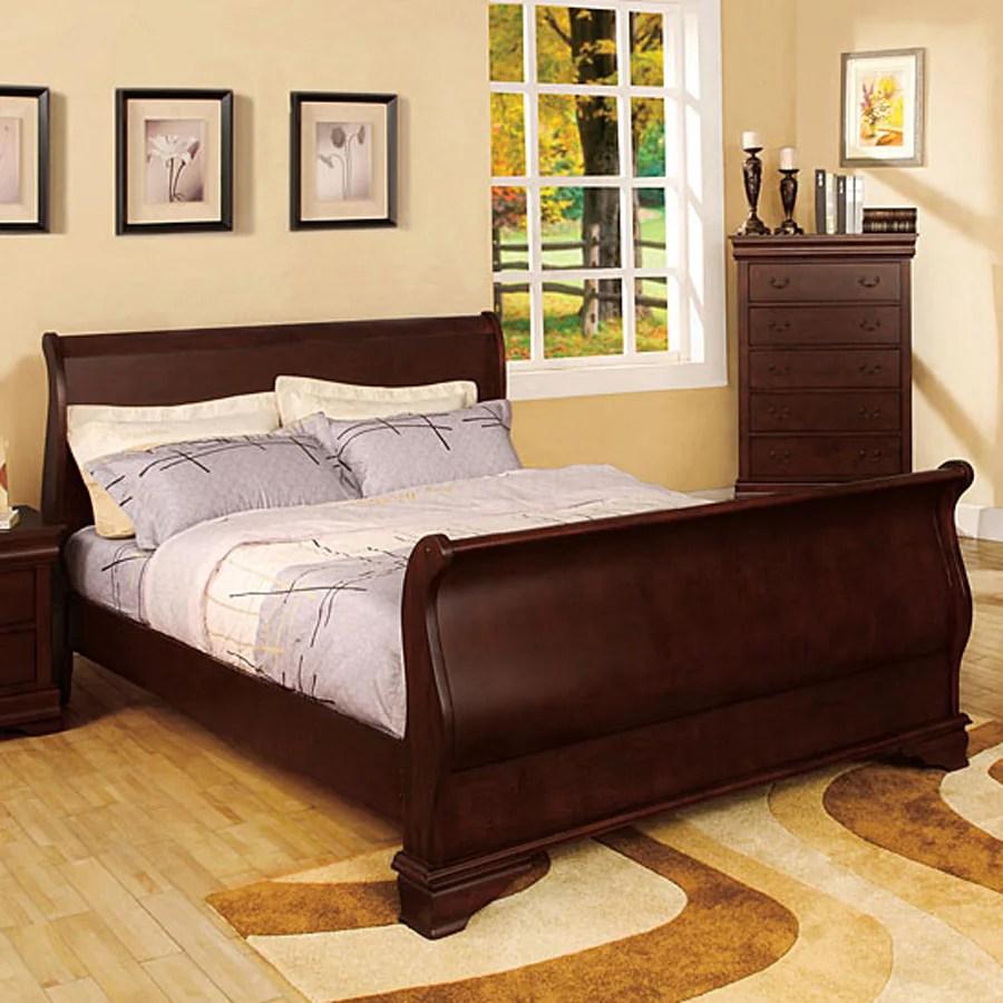 Shop Furniture Of America Laurelle Dark Cherry King Sleigh