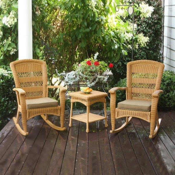 outdoor wicker patio conversation sets Tortuga Outdoor Portside 3-Piece Wicker Patio Conversation