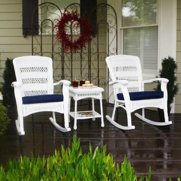 outdoor wicker patio conversation sets Shop Tortuga Outdoor Portside 3-Piece Wicker Patio
