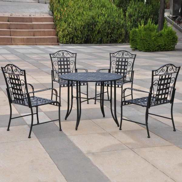 wrought iron patio dining sets Shop International Caravan Mandalay 5-Piece Wrought Iron