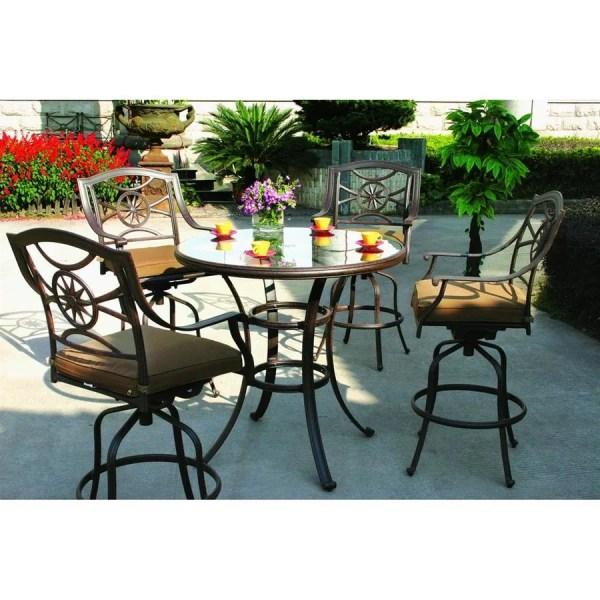 5 piece outdoor patio bar set Shop Darlee Ten Star 5-Piece Antique Bronze Aluminum Bar
