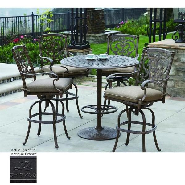 5 piece outdoor patio bar set Shop Darlee Santa Barbara 5-Piece Antique Bronze Aluminum