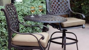 Darlee Nassau 3 Piece Antique Bronze Aluminum Bar Patio