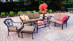 Darlee Ten Star 6 Piece Aluminum Patio Conversation Set At