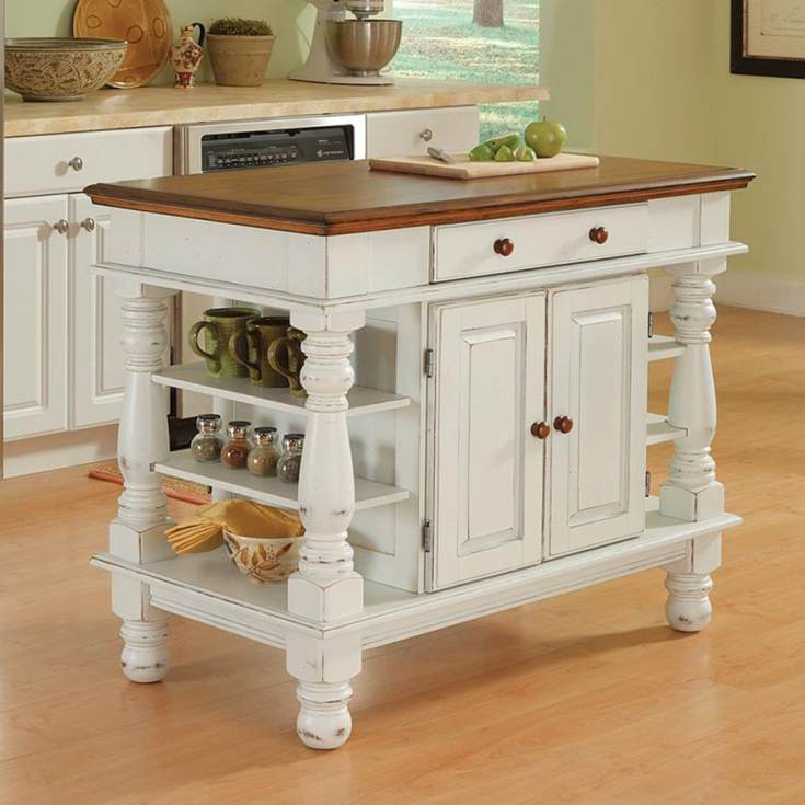 home styles white farmhouse kitchen islands at lowes