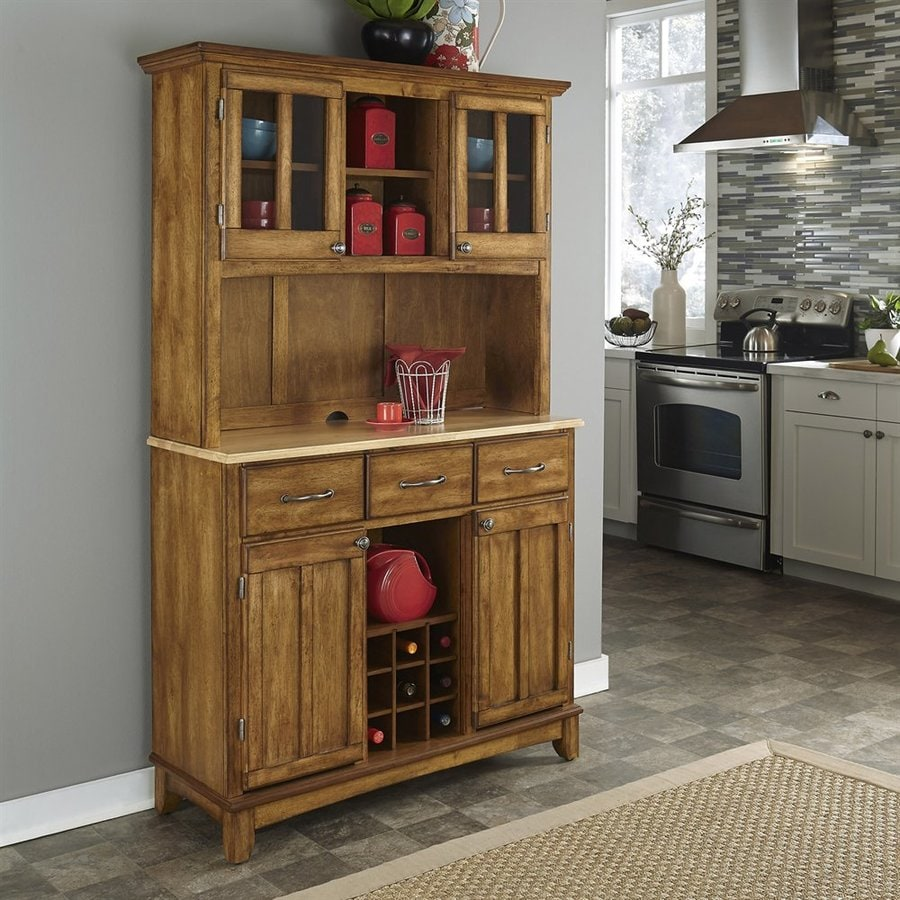 Shop Home Styles Cottage Oak Natural Wood China Cabinet