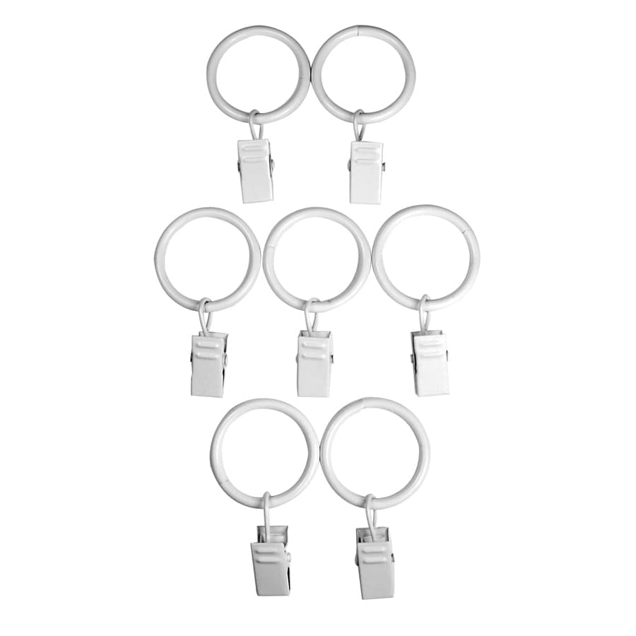 wood curtain rod clip rings at lowes