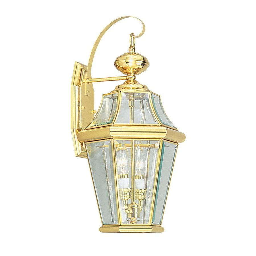 Livex Lighting Georgetown 20.75-in H Polished Brass ... on Brass Wall Sconces Non Electric Lighting id=26131