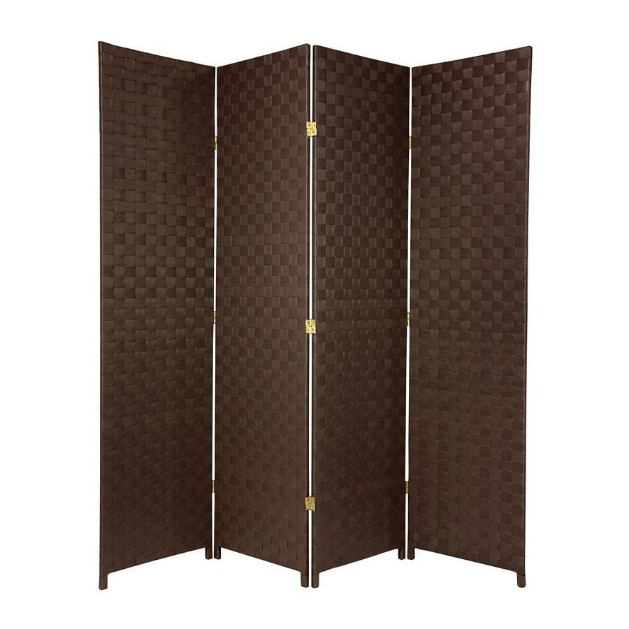 Shop Oriental Furniture 70 In W X 71 In H Dark Brown Vinyl